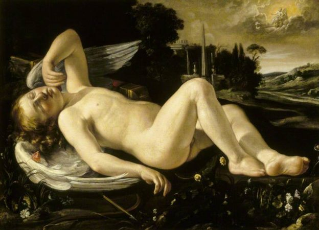 Riminaldi, Orazio; Cupid Asleep Approached by Venus in Her Chariot; National Trust, Kedleston Hall and Eastern Museum; http://www.artuk.org/artworks/cupid-asleep-approached-by-venus-in-her-chariot-172118